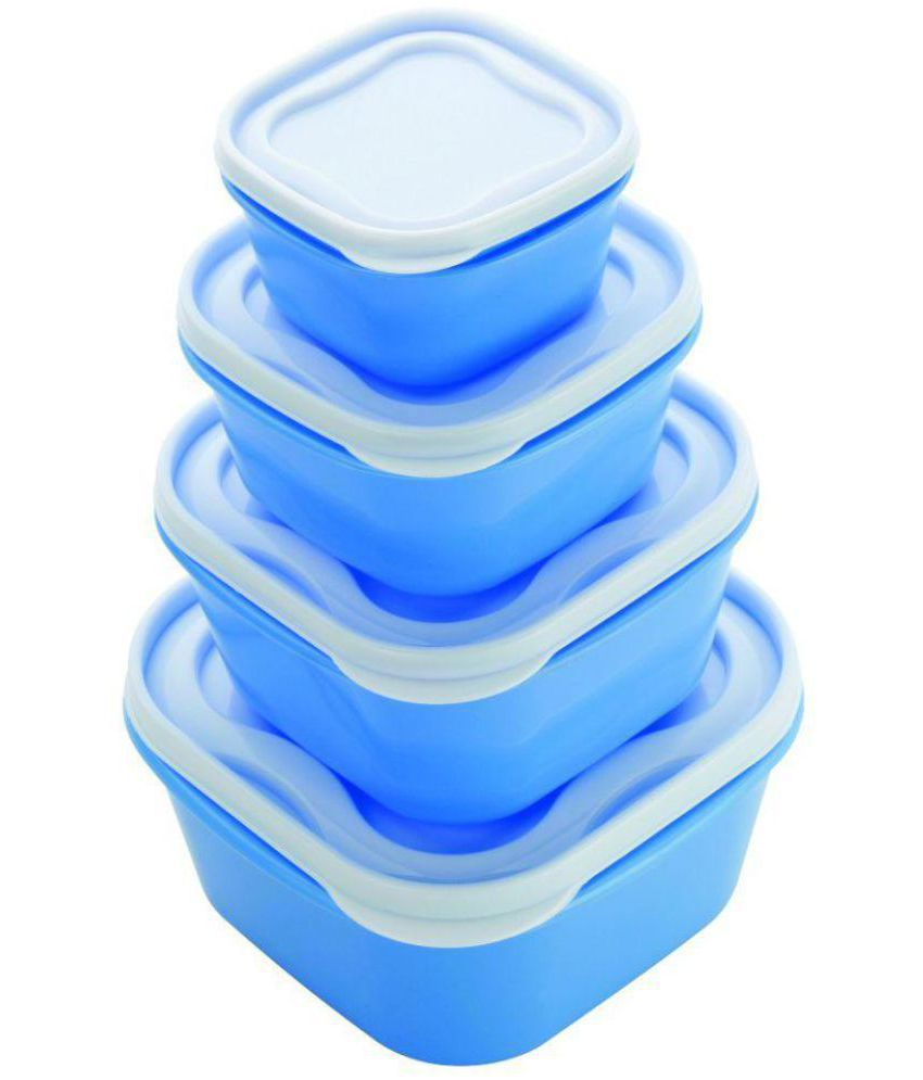 DHYAN Polyproplene Food Container Set of 4