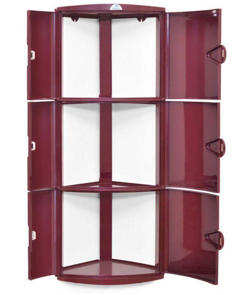 Buy Nilkamal Corner 3 Door Plastic Bathroom Cabinet Online