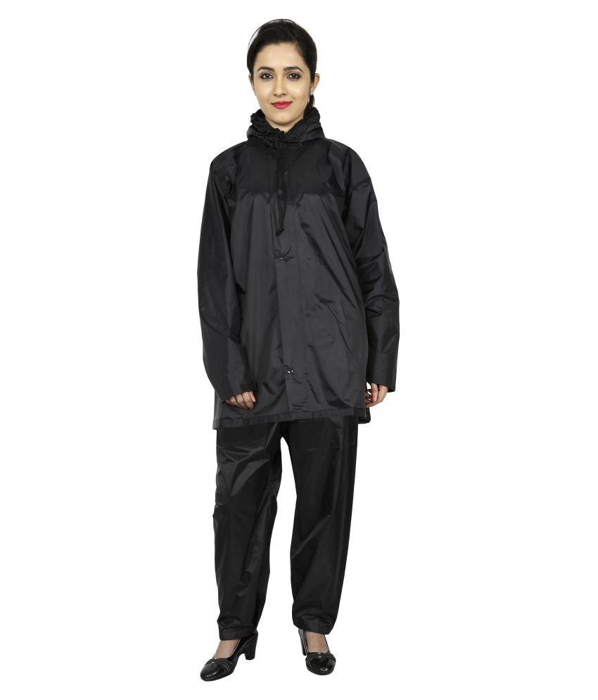 Reliable PVC Raincoat Set - Black