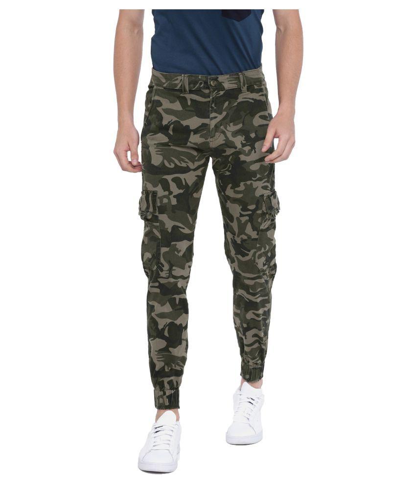 Sports 52 Wear Grey Slim -Fit Flat Cargos
