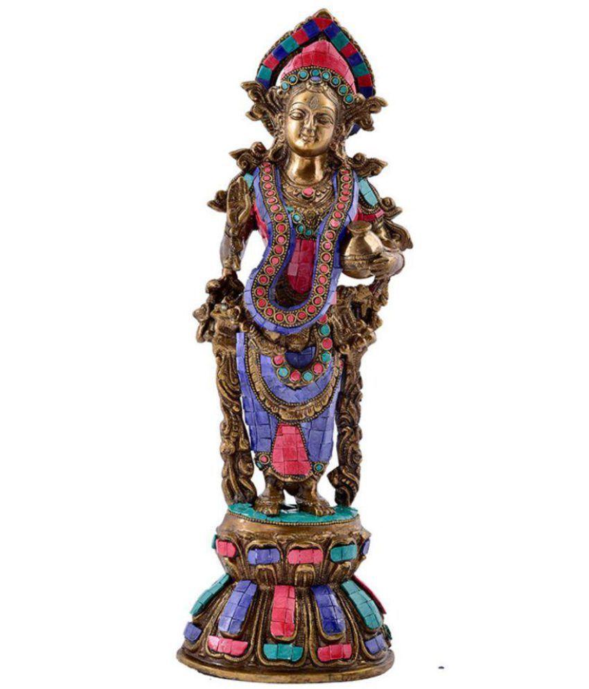 My Crafts Laxmi Brass Idol