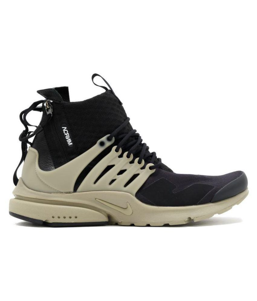 save off ef870 16ca0 Nike AIR PRESTO ACRONYM Black Running Shoes - Buy Nike AIR PRESTO ACRONYM  Black Running Shoes Online at Best Prices in India on Snapdeal