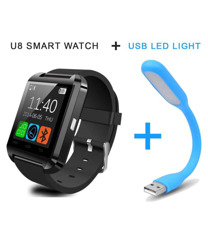 Bingo u8 Smart Watches - Combo of USB Light & U8 Smart Watch