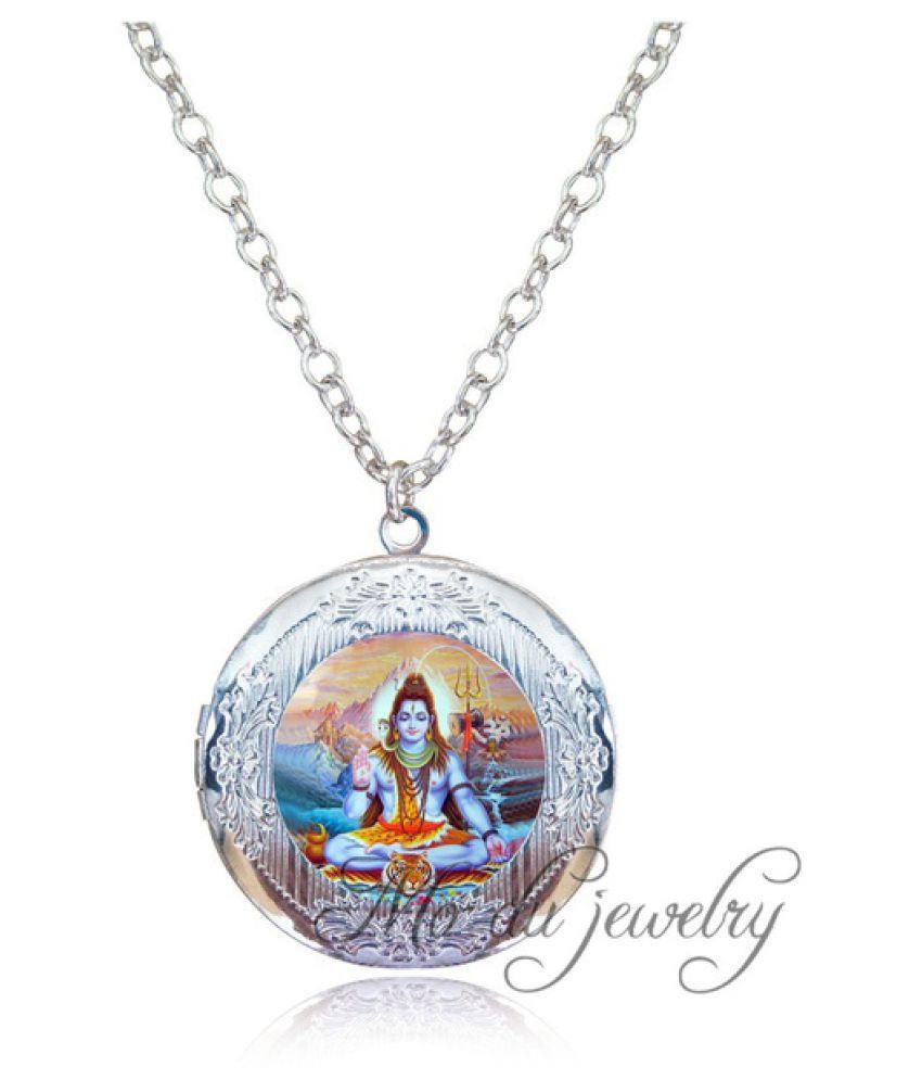 Kamalife Art Photo Lord Shiva Locket Pendant Necklace Fashion Nataraja Jewelry Hindu India Buddhist Religion Jewelry Friend Gifts Colares Silver 20 g