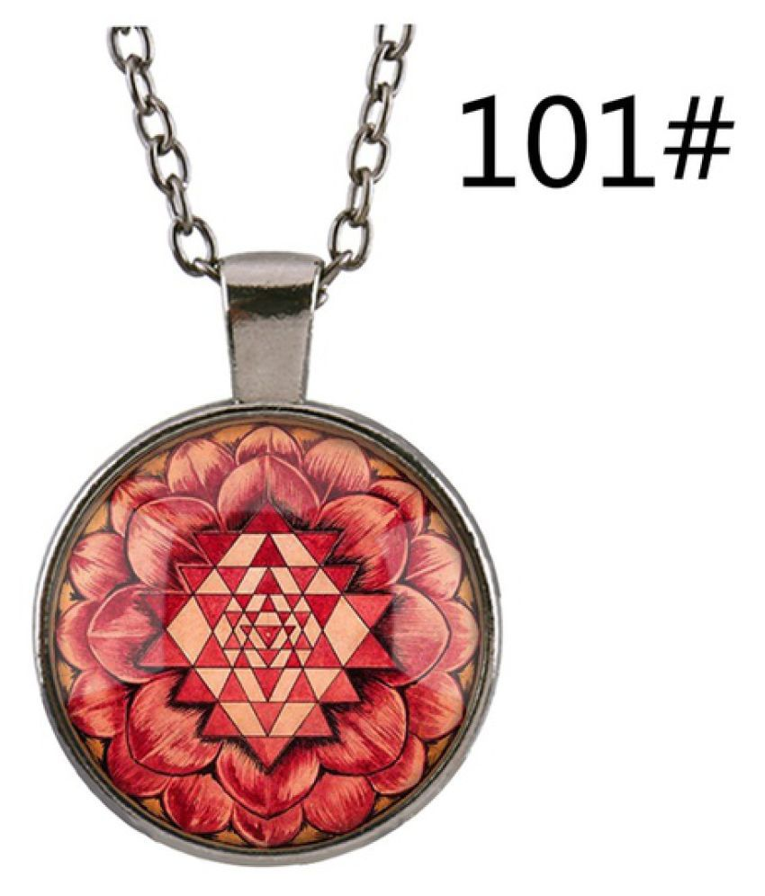 Kamalife New 3d Fashion Design India Southeast Asia Sri Lanka Sri Lanka Time Gemstone Glass Pendant Necklace Diy Jewelry Lover Beautiful Gift  101