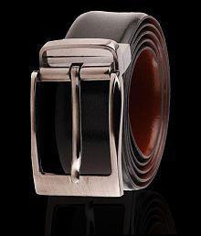 WOODLAND IMPORTS LEATHER Black Leather Formal Belt