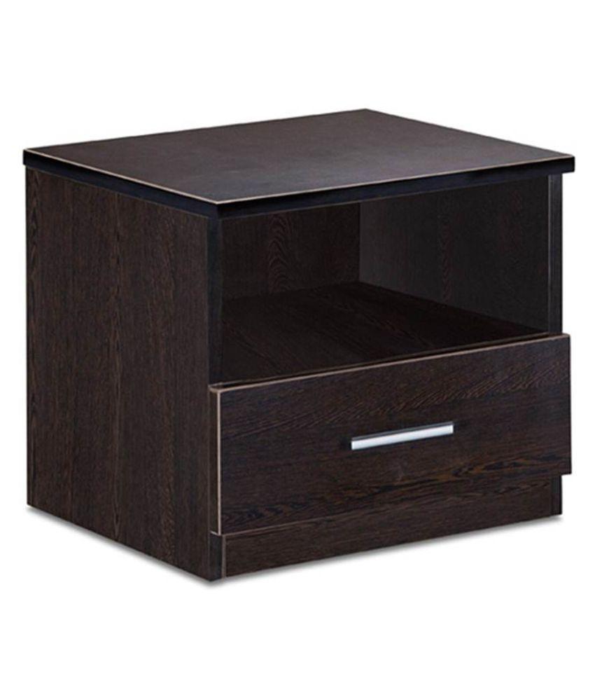 Delite Kom Bed ST A wenge Engineered Wood Bedside Table  (Finish Color - Wenge)