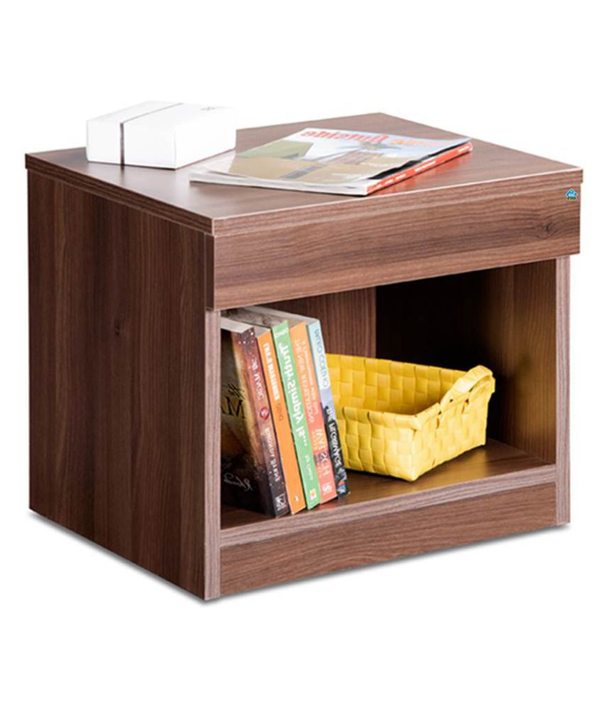 Delite Kom Bedside Table Acacia Dark Engineered Wood Bedside Table  (Finish Color - Acicia Dark)