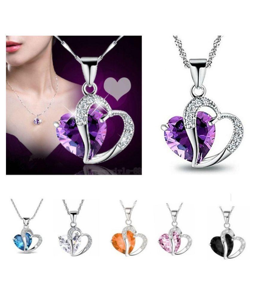 618d967d1 ... Kamalife Fashion Women M-TARA 1 PC 925 Sterling Silver Plated Blue  White Crystal Gemstone ...