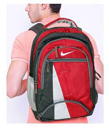 Nike Bag Nike Backpack College Bag College Backpack School Backpack School Bag Laptop Bag- Black Red Color