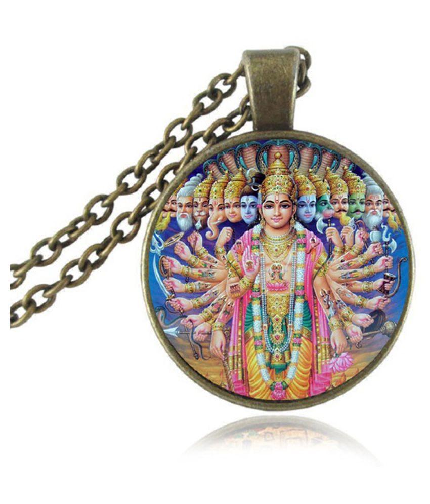 Kamalife Hindu Lord BrahmaVishnuShiva Pendant Necklace God Geneisha pendant India Ganesha Jewelry Hinduism Religion Neckless Bijoux