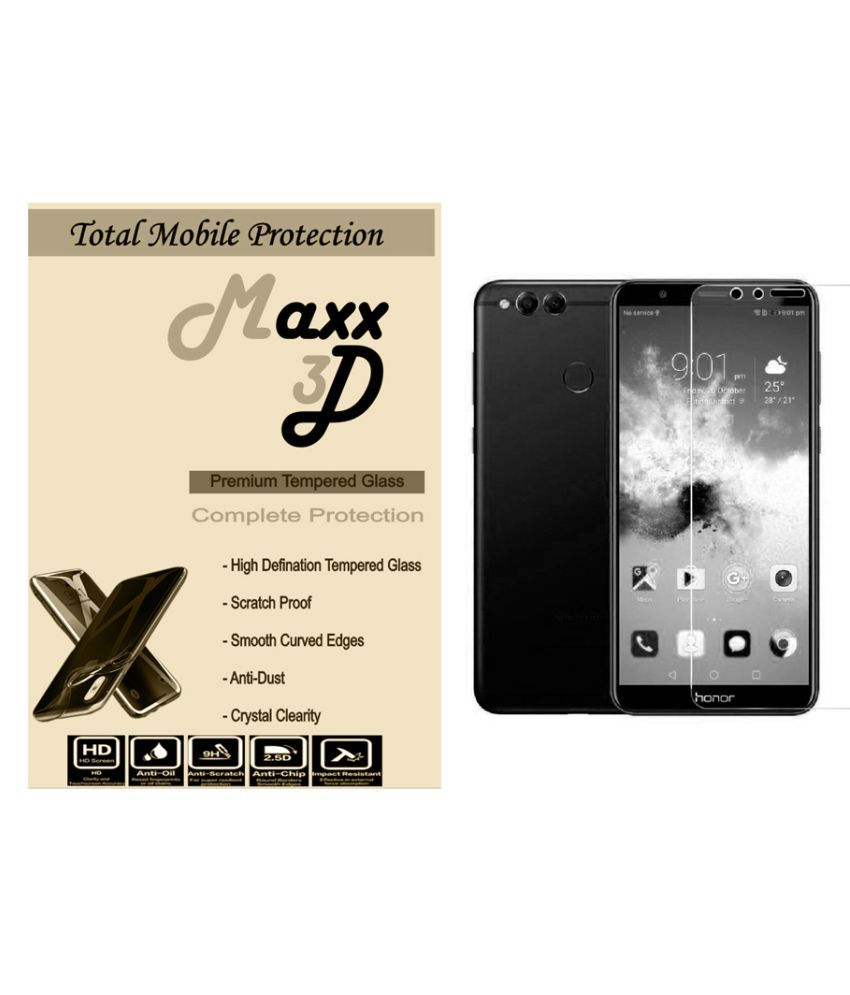 Huawei Honor 7X Tempered Glass Screen Guard By MAXX3D