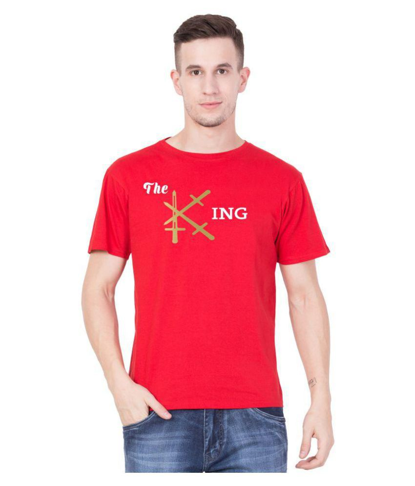 Cliths Red Round T-Shirt Pack of 1