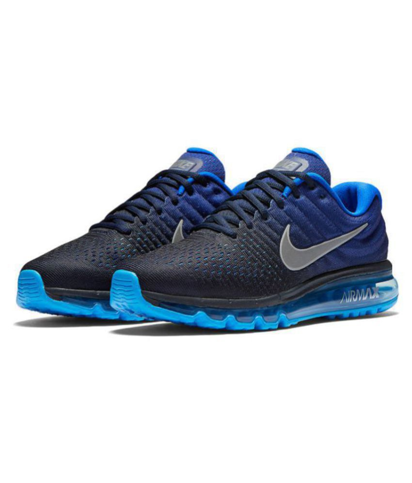 best service d6170 c4807 Nike AIRMAX 2017 ALL COLOUR Blue Running Shoes - Buy Nike AIRMAX 2017 ALL  COLOUR Blue Running Shoes Online at Best Prices in India on Snapdeal