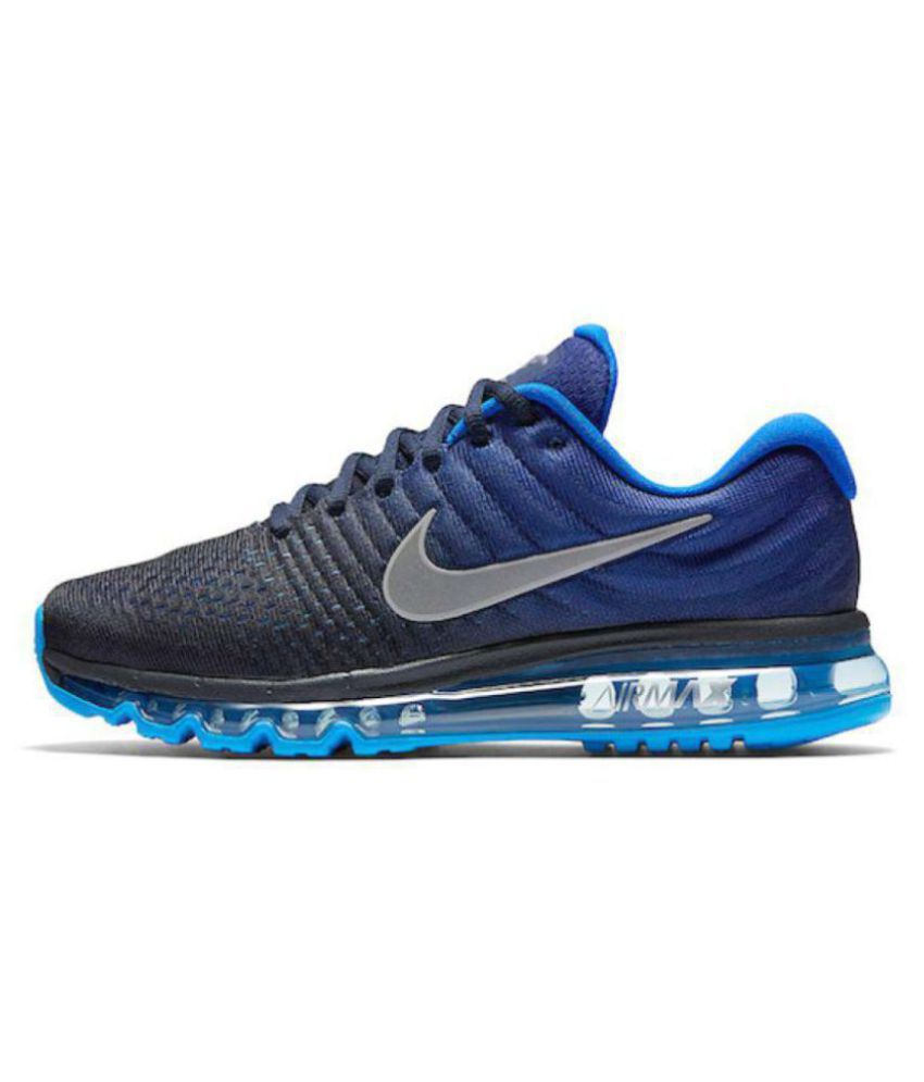best cheap 3b09a c1330 ... Nike AIRMAX 2017 ALL COLOUR Blue Running Shoes ...