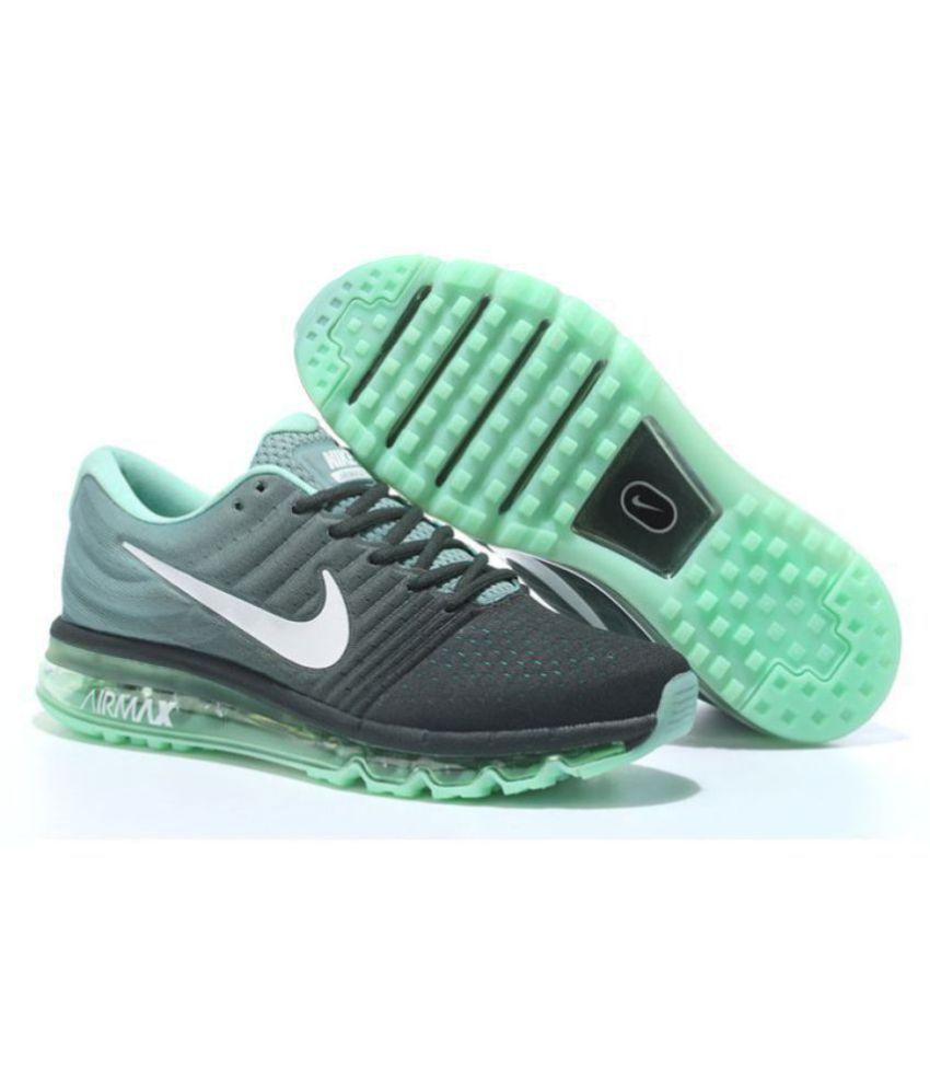 Nike AIRMAX 2017 ALL COLOUR Green Running Shoes - Buy Nike AIRMAX ... 077e20c7c