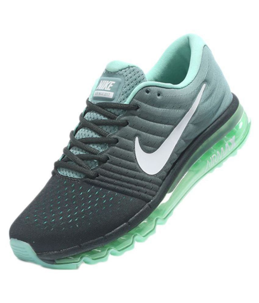 986085b43acc Nike AIRMAX 2017 ALL COLOUR Green Running Shoes - Buy Nike AIRMAX 2017 ALL  COLOUR Green Running Shoes Online at Best Prices in India on Snapdeal