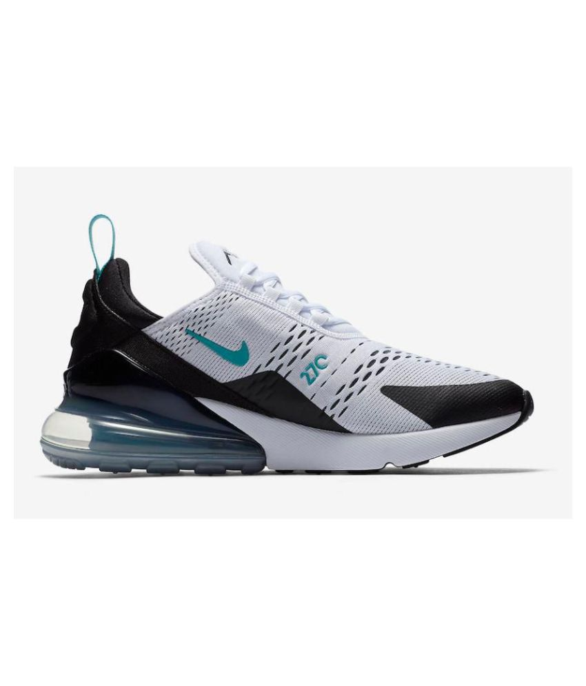 low priced 42220 de838 Nike Air Max 270 White Running Shoes - Buy Nike Air Max 270 White Running  Shoes Online at Best Prices in India on Snapdeal