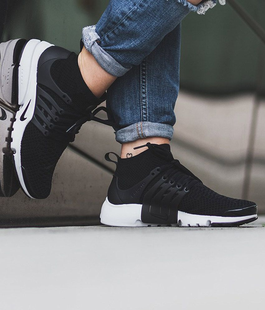 new style b2b08 80394 Nike Air Presto Ultra Flyknite Black Running Shoes - Buy Nike Air Presto  Ultra Flyknite Black Running Shoes Online at Best Prices in India on  Snapdeal