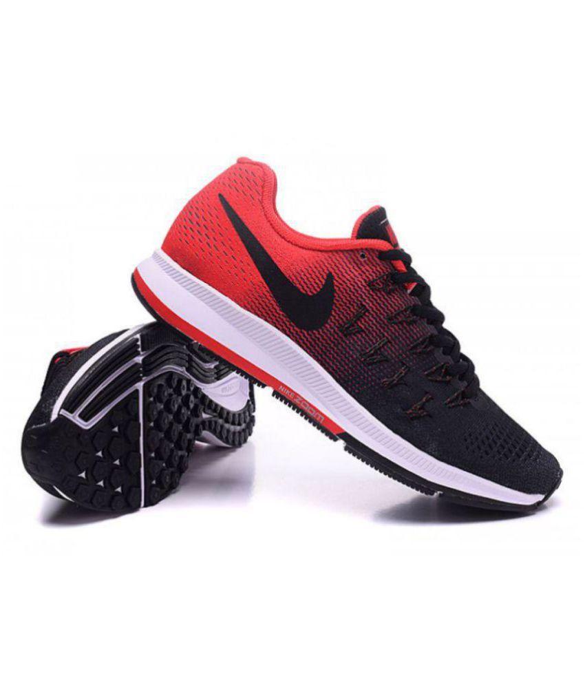 0bb53e687c3fc ... Nike Air zoom 33 pegasus Pegasus 33 Black Red Black Running Shoes ...