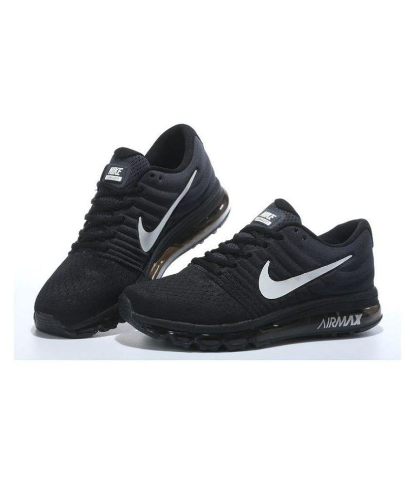 pretty nice d582b 9873f Nike Airmax 2017 Black Running Shoes ...