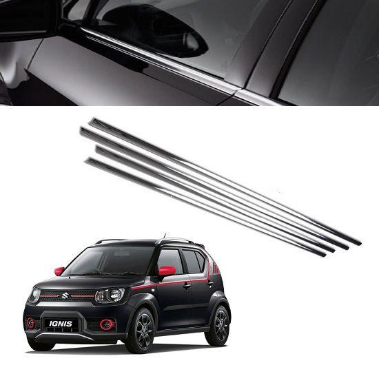 Buy Trigcars Maruti Suzuki Ignis Car Window Lower Garnish Online At