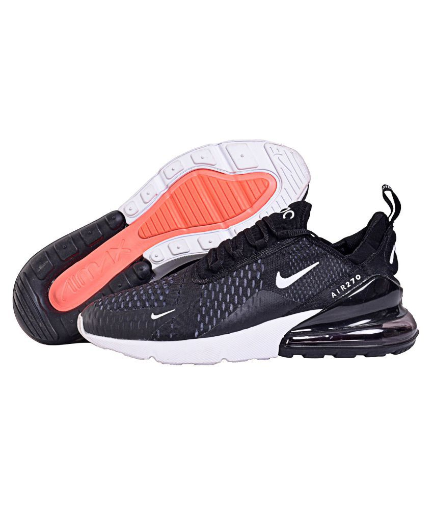buy popular 6bd79 18125 Nike AIR MAX 270 Black Running Shoes - Buy Nike AIR MAX 270 Black Running  Shoes Online at Best Prices in India on Snapdeal