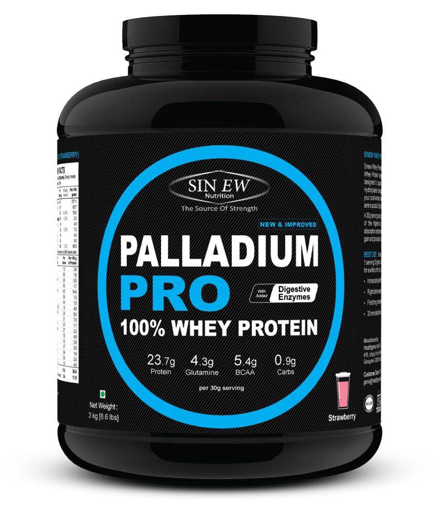 Sinew Nutrition Palladium Pro Whey Protein - Strawberry, 3 kg