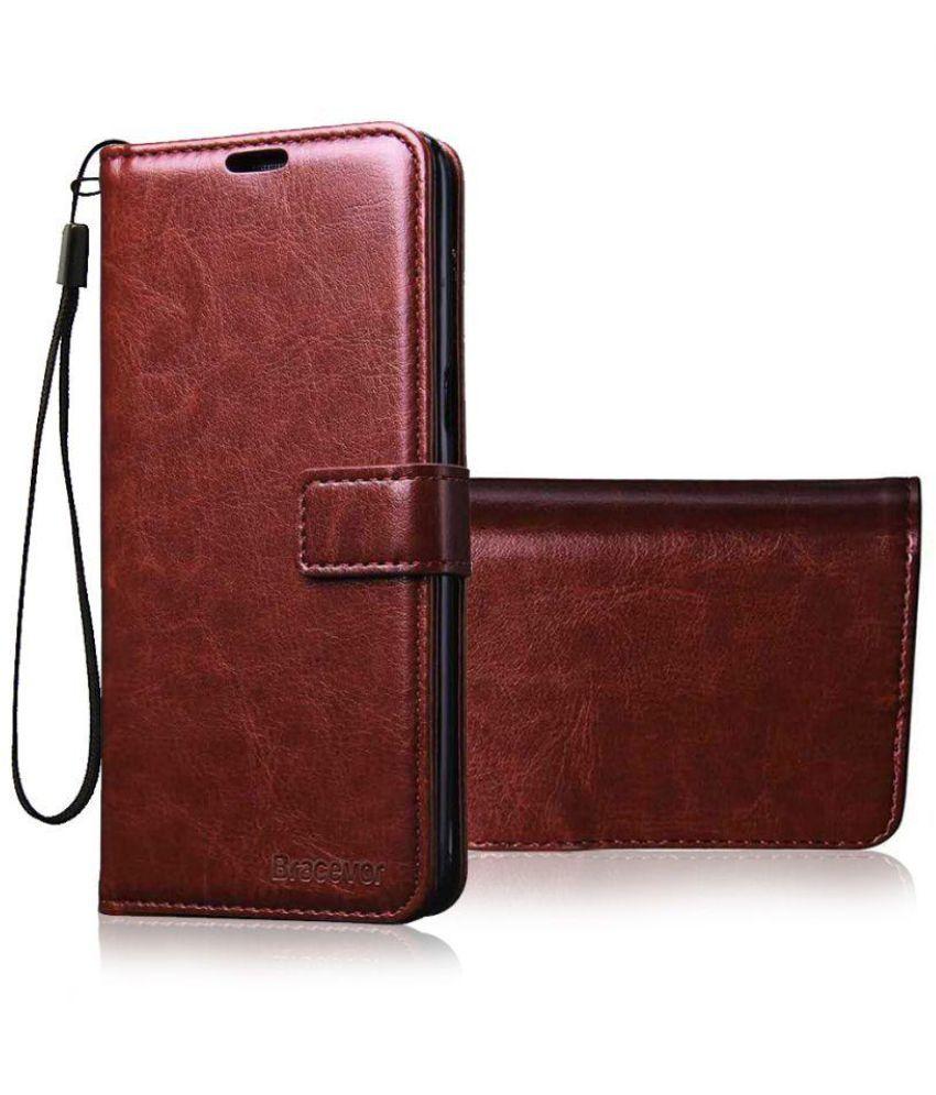 free shipping 329f4 c505a Xiaomi Redmi Note 3 Flip Cover by Bracevor - Brown