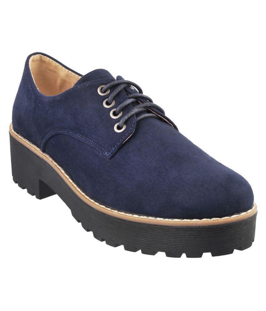 Metro Blue Block Heels
