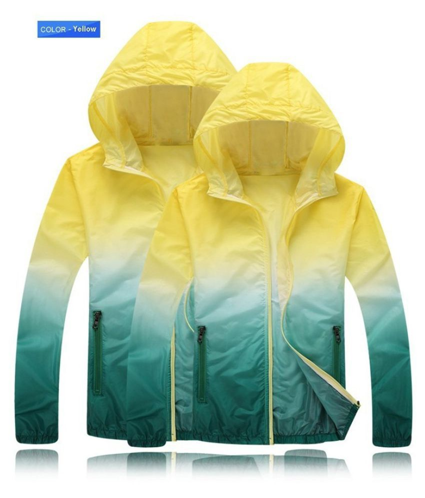 Changing Destiny Polyester Long Raincoat - Yellow