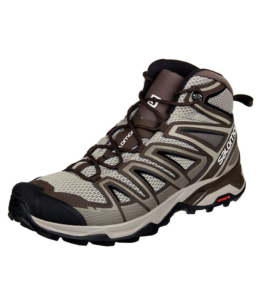 separation shoes ea4a8 dabf2 Salomon X ULTRA MID 3 AERO Brown Hiking Shoes