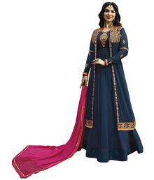 c1d5c007a4 Blue Salwar Suits: Buy Blue Salwar Kameez Online at Low Prices in ...