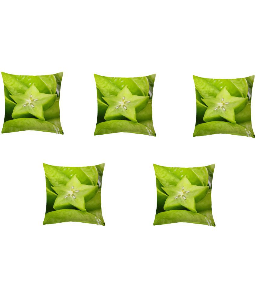 84a3e43c48969 KD Sales Set of 5 40X40 cm (16X16) Cushion Covers Nature inspired Themed   Buy Online at Best Price