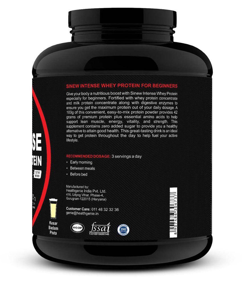 Sinew Nutrition Intense Whey Protein for Beginner's, 3 kg