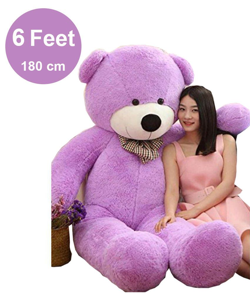 AVS 6 Feet super Soft Lovely teddy bear gifts ( Purple ,180 cm )