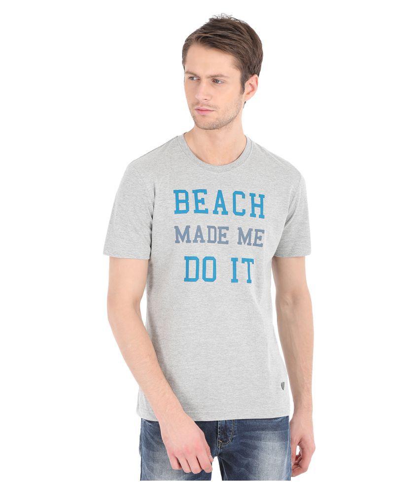 John Players Grey Round T-Shirt