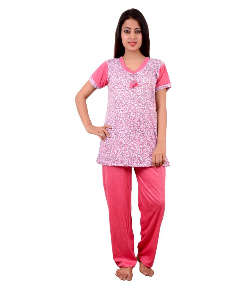 42902994a8a Buy Jeenat Hosiery Nightsuit Sets - Rust Online at Best Prices in India -  Snapdeal