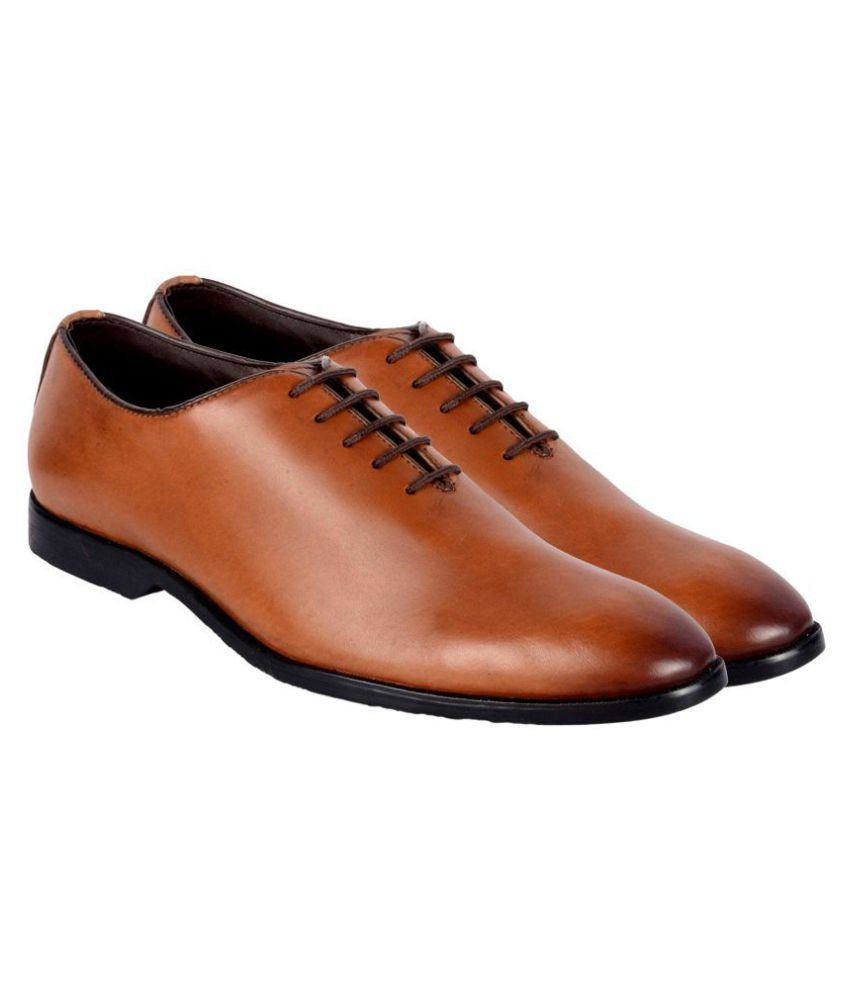 813f2ab395 Costoso Italiano Oxford Genuine Leather Tan Formal Shoes Price in India- Buy  Costoso Italiano Oxford Genuine Leather Tan Formal Shoes Online at Snapdeal