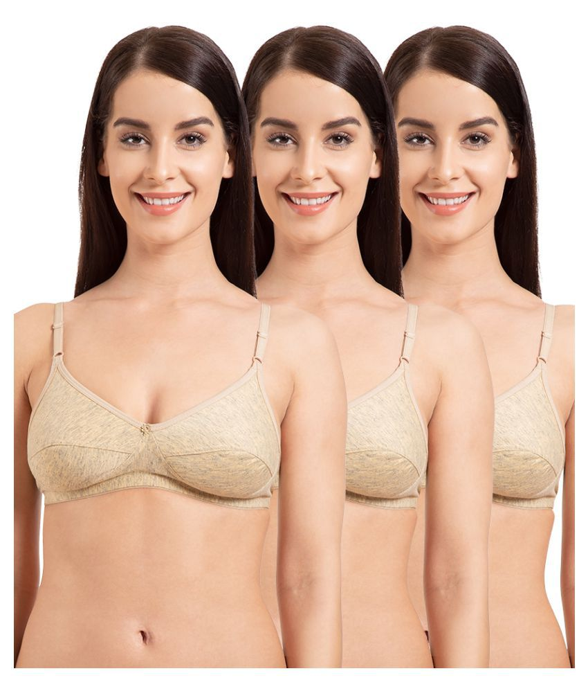 Komli Cotton T-Shirt Bra - Beige