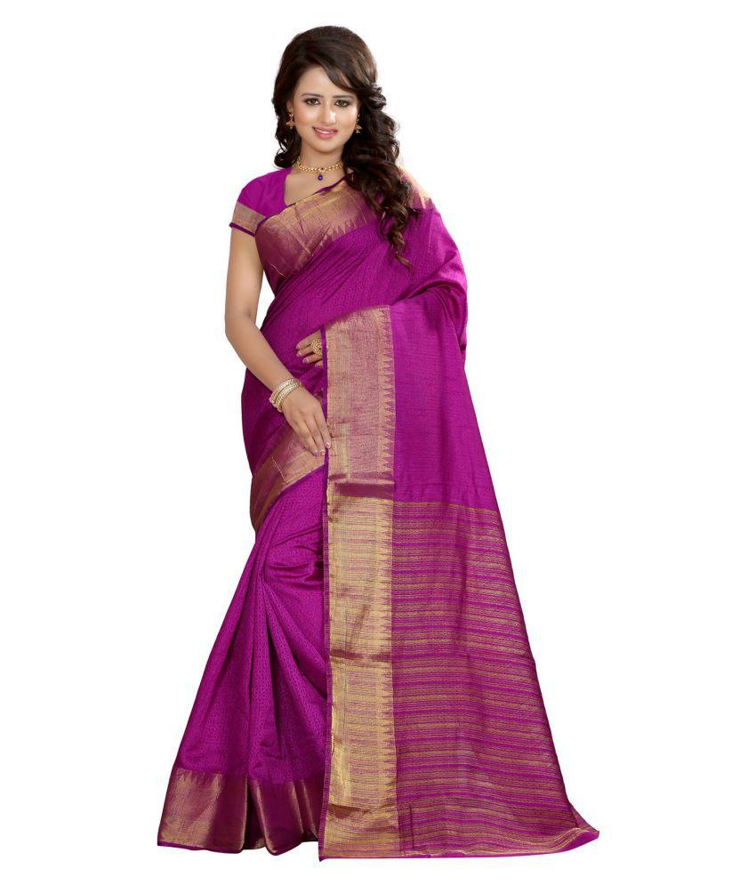 Pehnava Magenta Banarasi Silk Saree