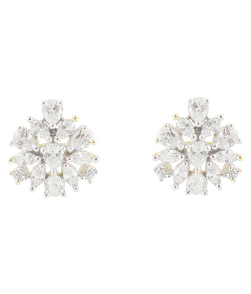 Rejewel Classy American Diamond Earrings For Women