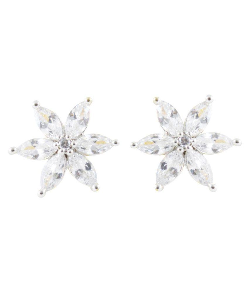 Rejewel Cubic Zirconium Stud Earrings