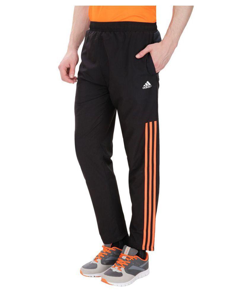 Adidas Black Polyester Trackpants Single