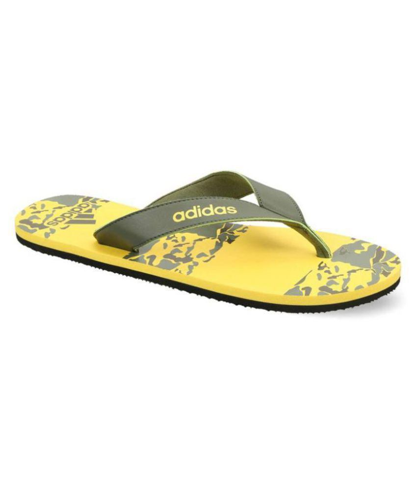 77310532d Adidas Yellow Thong Flip Flop Price in India- Buy Adidas Yellow ...