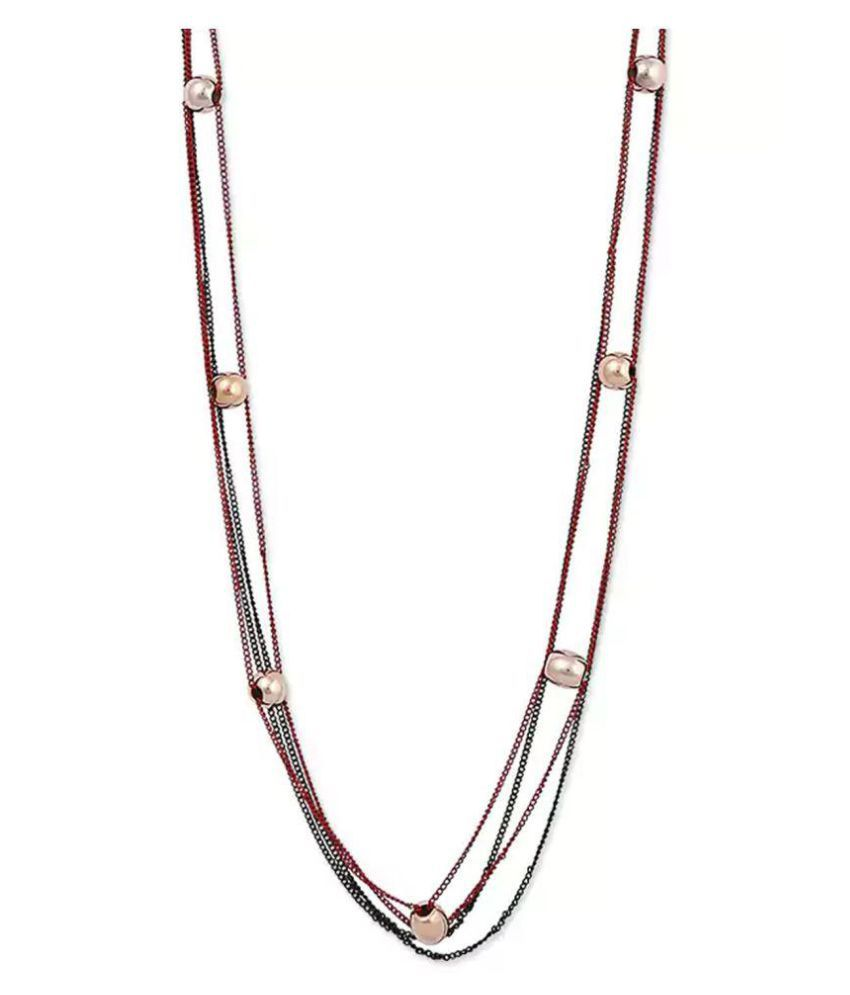 Bling studio multicolored metal alloy & pearl neckpiece