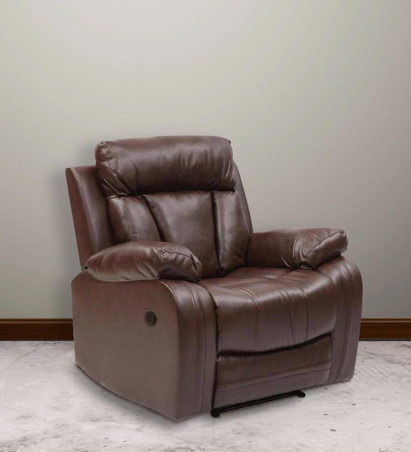 Evok Magna New Leatherette Recliner Sofa 1 Seater With