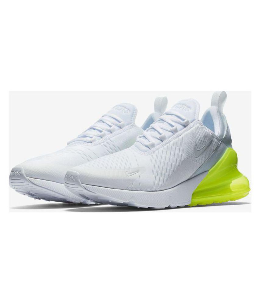 more photos 21132 ddd2b Nike AIR MAX 270 White Running Shoes - Buy Nike AIR MAX 270 White Running  Shoes Online at Best Prices in India on Snapdeal