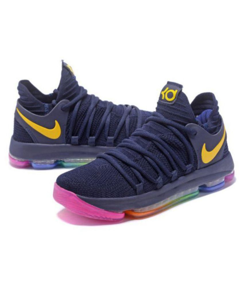 super popular 39efd fe0d8 ... Nike KD 10 New Edition Navy Basketball Shoes ...