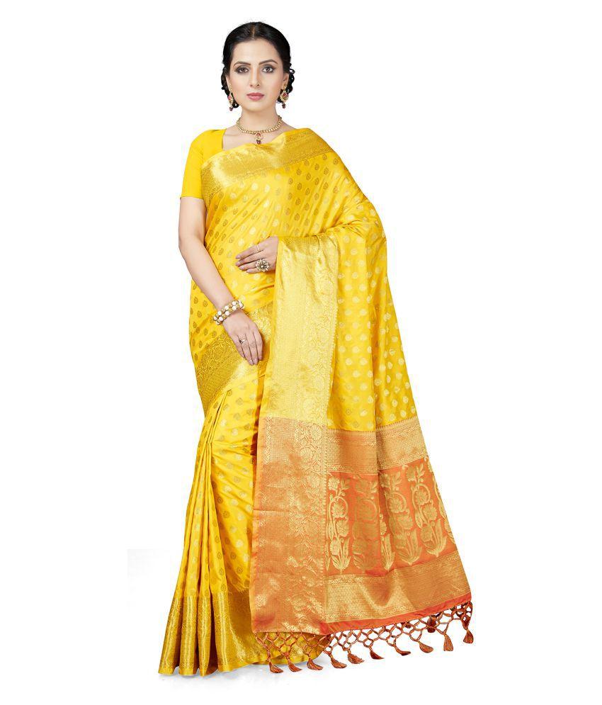 Ishin Yellow Silk Saree